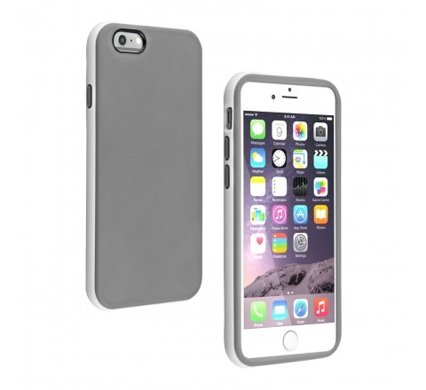 Universal Two Tone Protective Case for iPhone 6/6s (Gray/White)