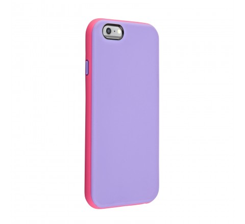 Universal Two Tone Protective Case for iPhone 6/6s (Pink/Purple)