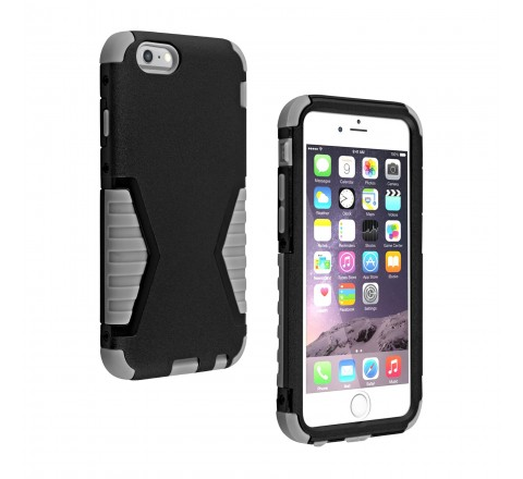 Universal Rugged Protective Case for iPhone 6/6s (Black/Gray)