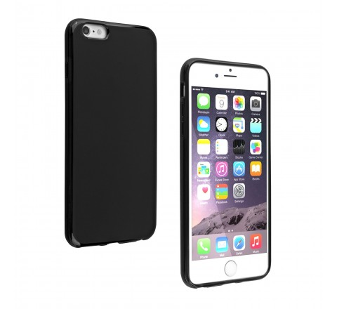 Universal High Gloss Silicone Case for iPhone 6 Plus/6s Plus (Black)