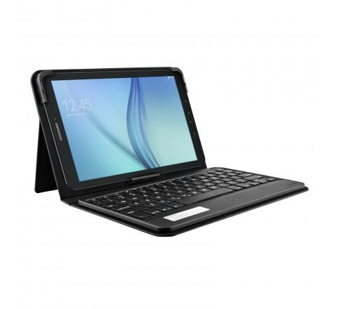 """Zagg Messenger Folio Case with Bluetooth Keyboard for Samsung Galaxy Tab E 9.7"""" (Black)"""