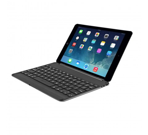 ZAGG Cover Case with Backlit Bluetooth Keyboard for iPad Air (Black)