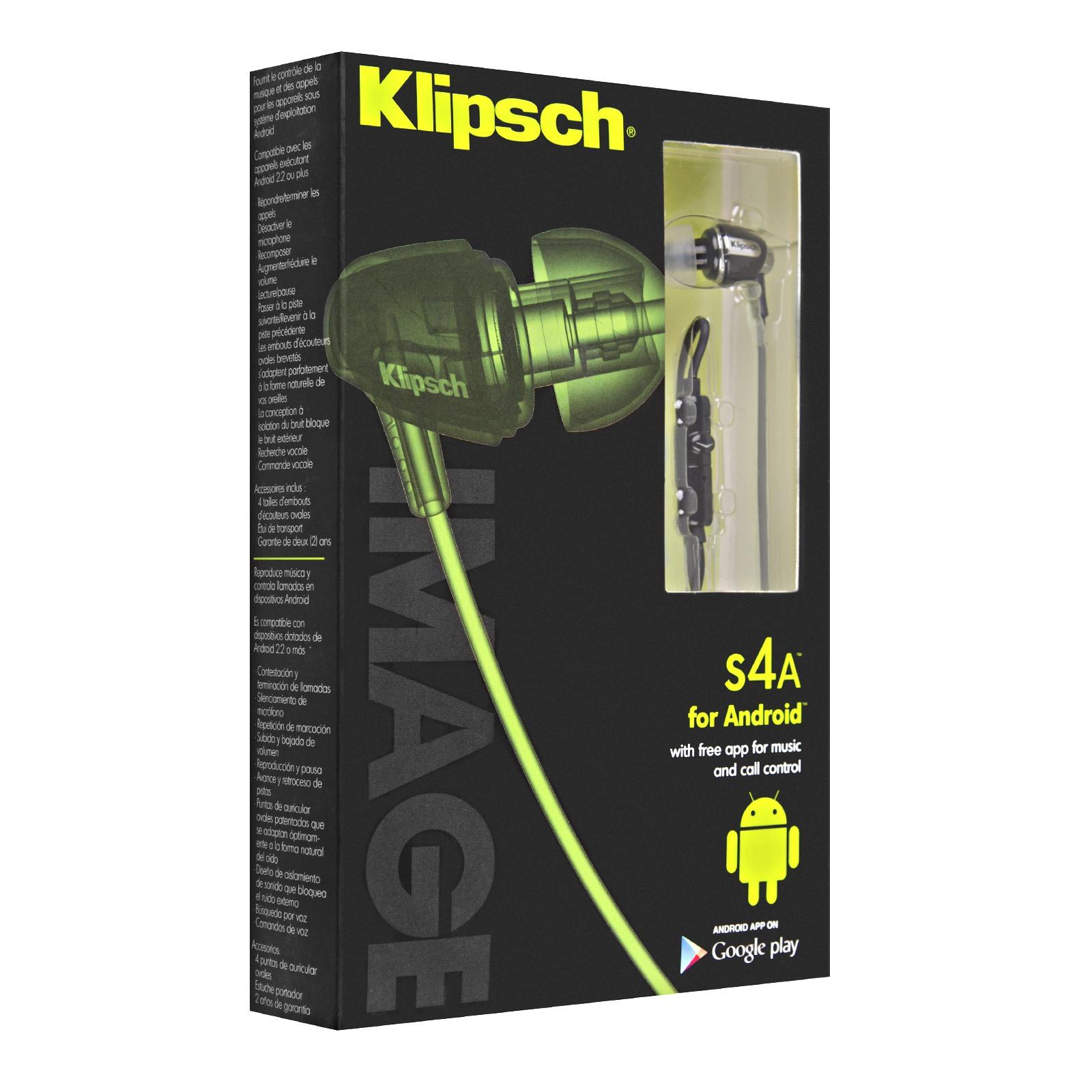 how to wear klipsch earbuds