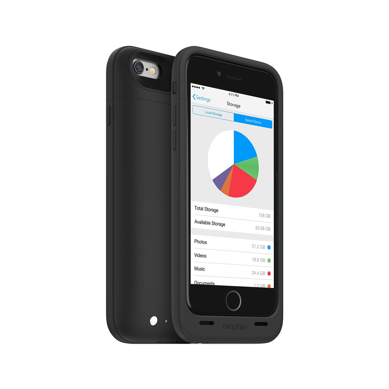 Mophie Space Pack 32 GB Battery Case for iPhone 6/6S (Black)