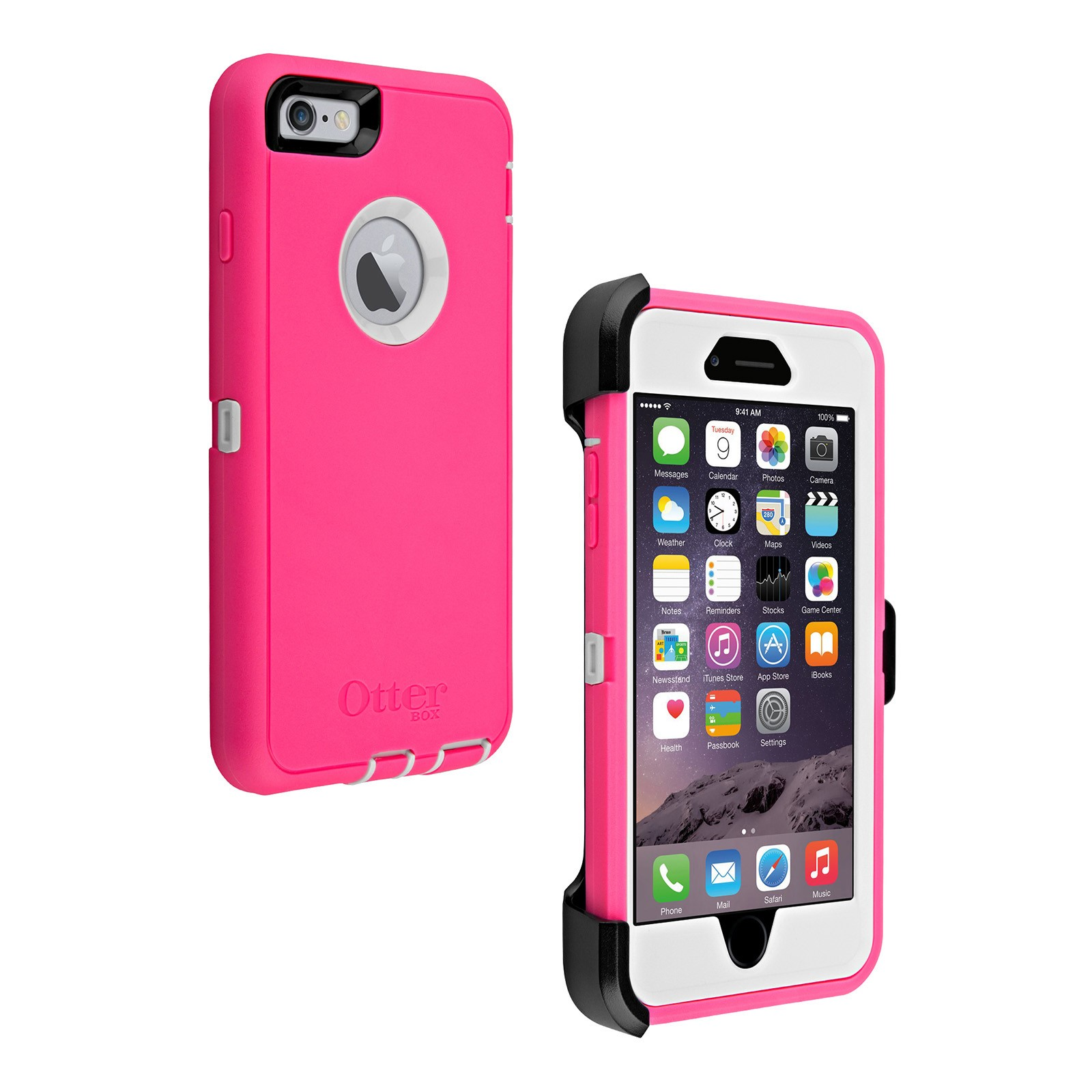 otterbox defender series case for apple iphone 6s plus 6 plus ebay. Black Bedroom Furniture Sets. Home Design Ideas