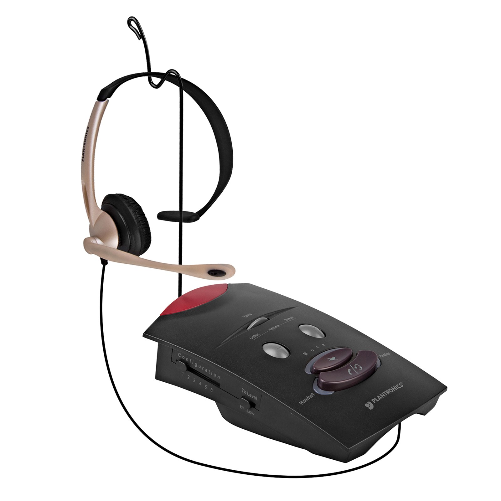 Plantronics S11 Wired Telephone Headset System (Black) PLA-S11-BK-B1