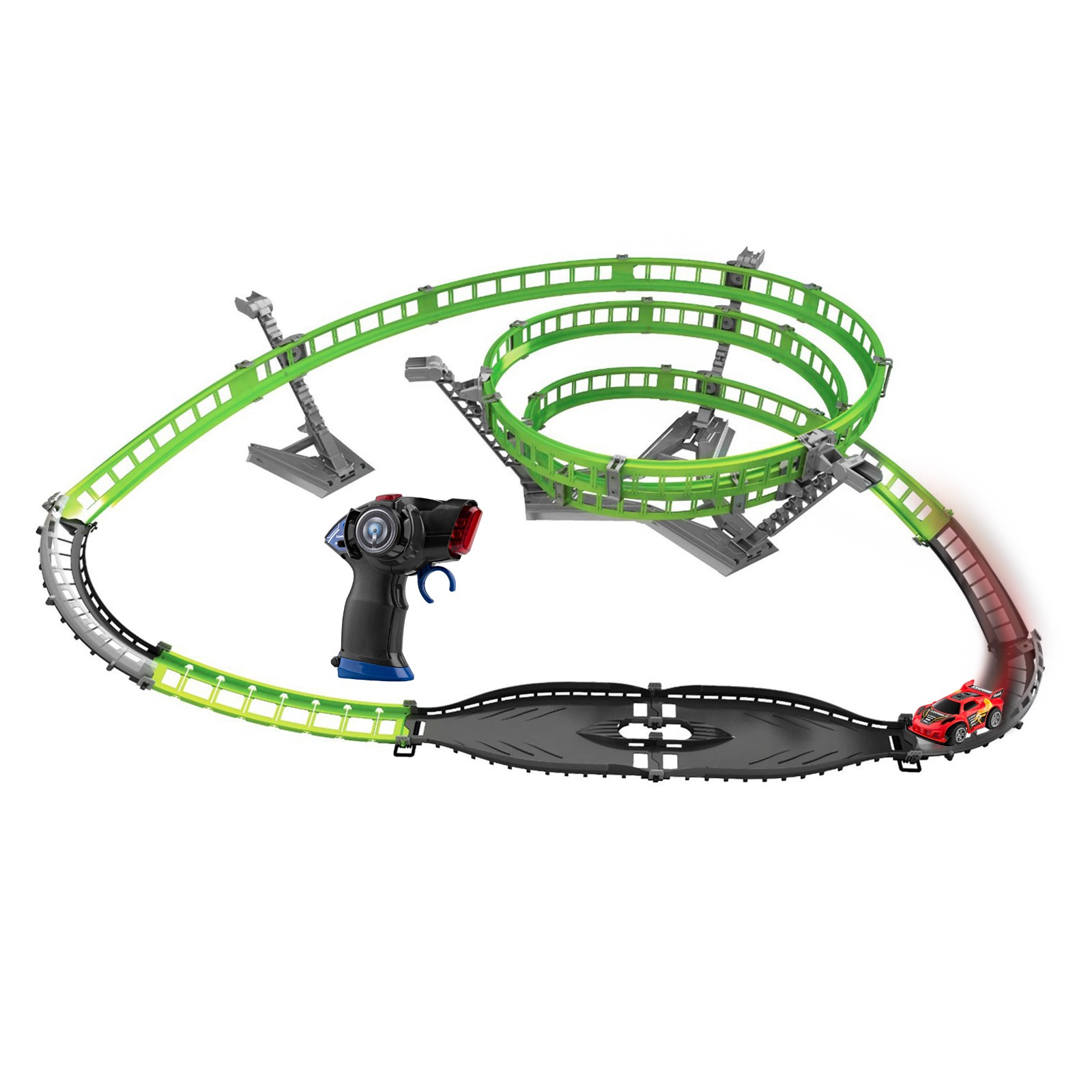 Silverlit 3D X-Trek Tornado Stunt Vehicle Playset (Green) SIL-630403823939-A1