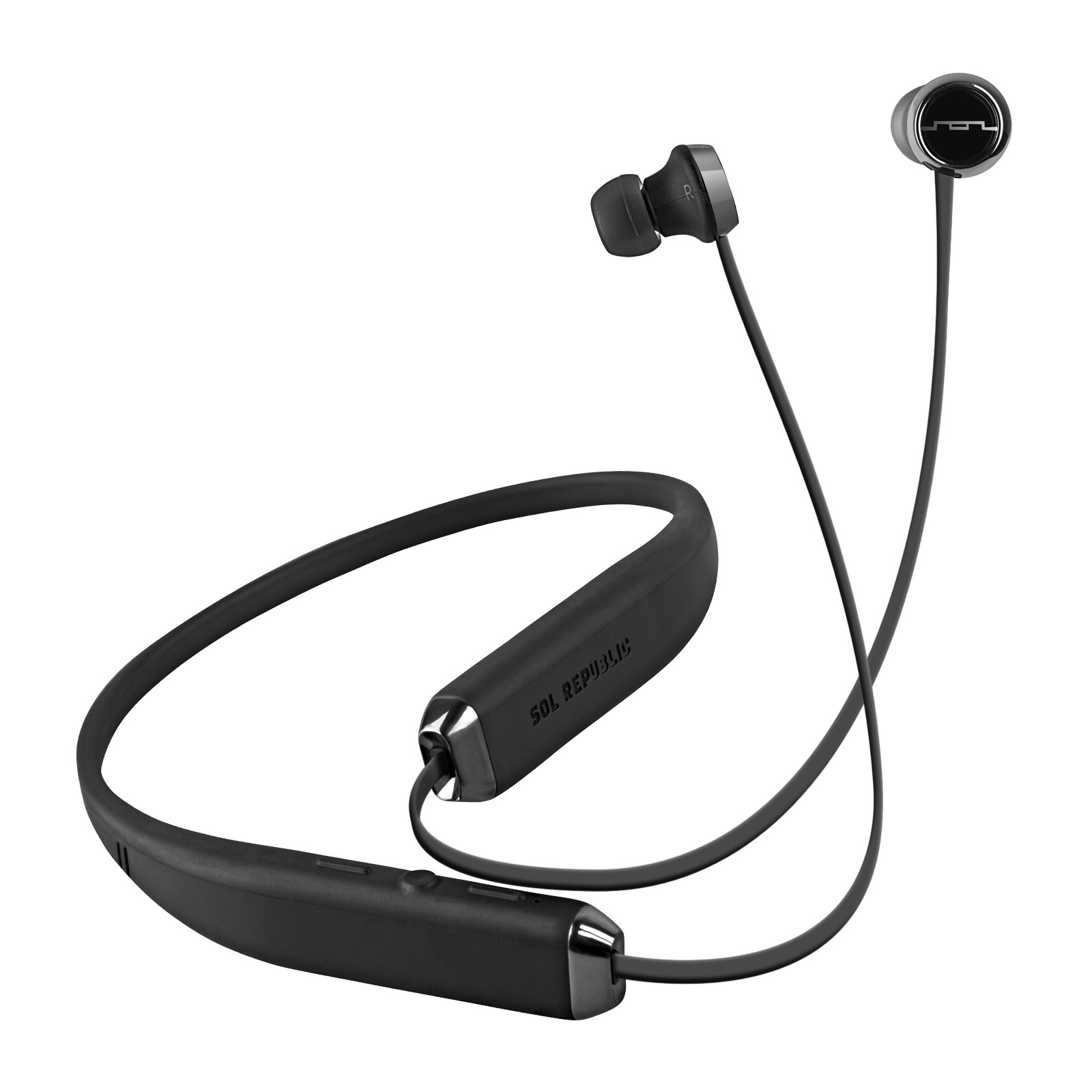 sol republic shadow wireless bluetooth in ear neckband. Black Bedroom Furniture Sets. Home Design Ideas