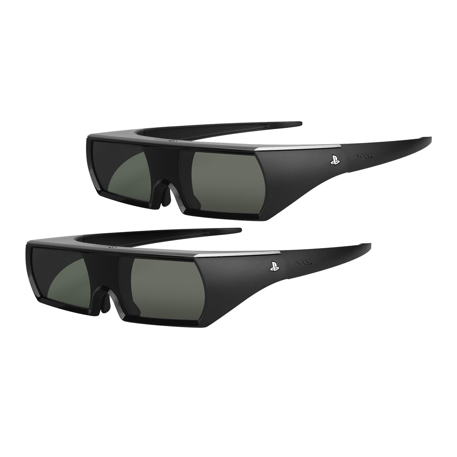 2-Pack Sony PS3 Active Shutter 3D Glasses (Black) SON-PS3-3DGLASSES-A2-2PK