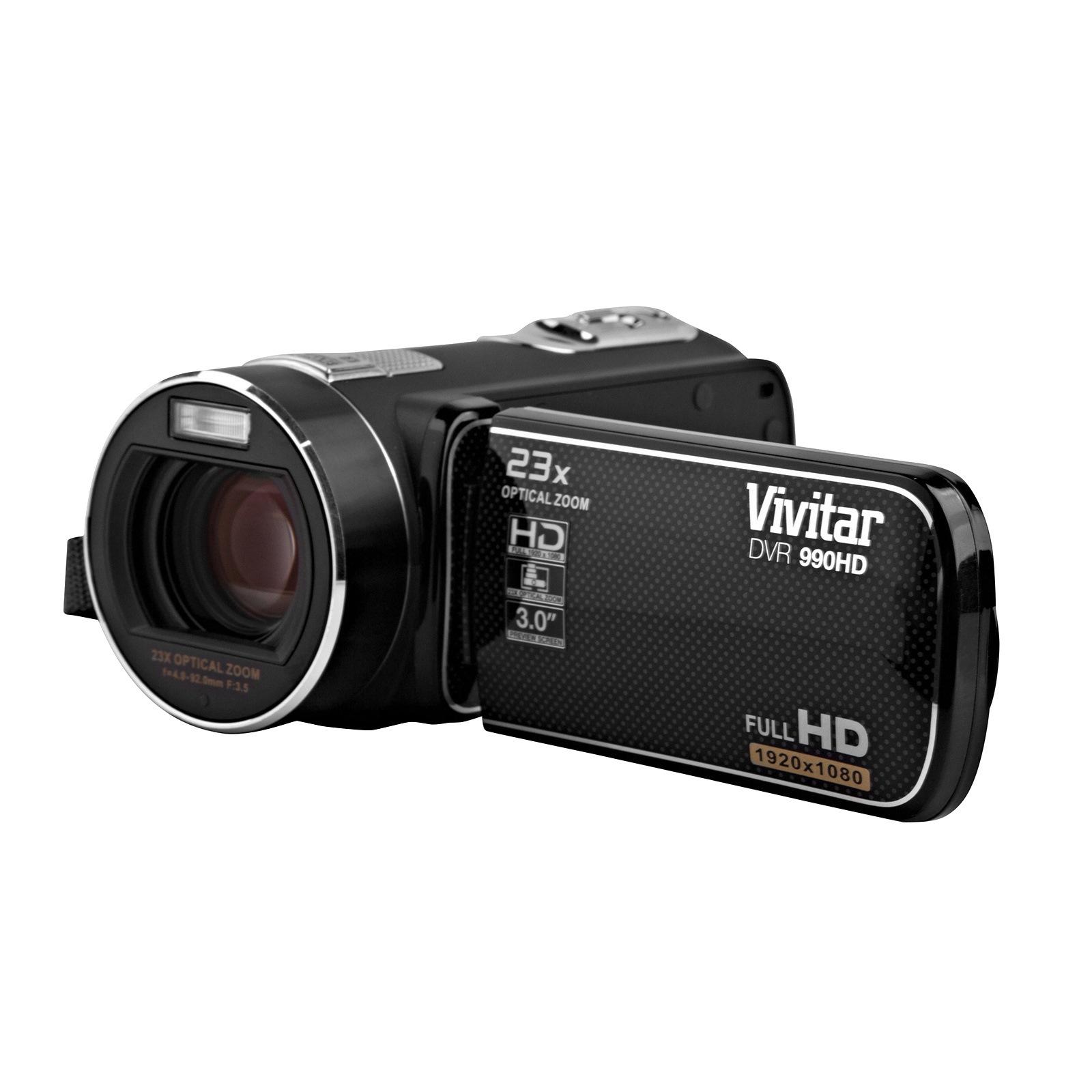 Vivitar DVR 990HD 10.1MP with 23x Optical Zoom Digital Video Recorder Camcorder Black Accessory Bundle